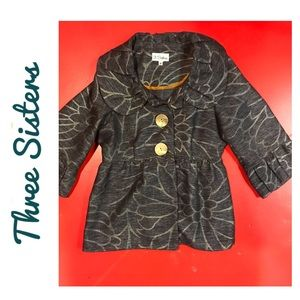 Gorgeous 3 Sisters Swing Coat size small